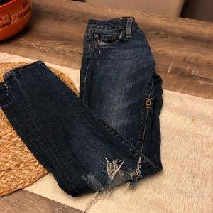 Super skinny distressed FOX jeans